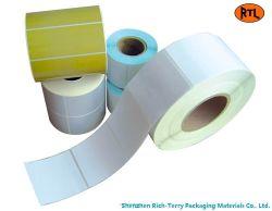 Kundenspezifisches Weiß oder Farben-Papieraufkleber-Kennsatz, direkter thermischer Kennsatz