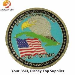 BSCI와 디즈니 주문 금속 기념품 도전 동전 15 년 제조자 큰 메달