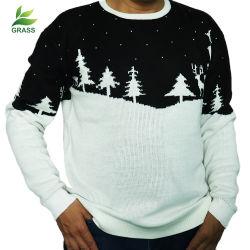 무지개 Angora 두건이 있는 복장 Bodycon 최신 디자인 뜨개질을 하는 남자 스웨터