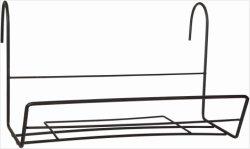 La sembradora de pared de metal de hierro plano Flor Cesta de la pared con 2 ganchos (XY12875)