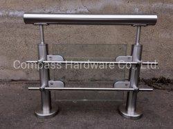ISO9001 moderno design interior/exterior de aço inoxidável corrimão de vidro com balaustrada/grades de proteção para a varanda / terraço/escadas/escadas de fábrica na China