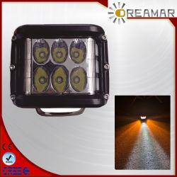 مكعب LED بقوة 36 واط مع مصباح جانبي مزدوج، 9-32، 6500K