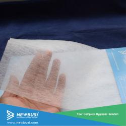 Мягкий пушистый (ES) через воздушный нетканого материала ткань для малыша Diaper