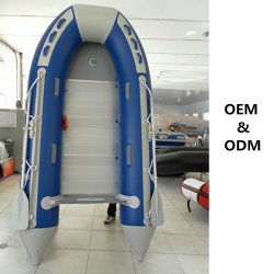 11 FT/PVC inflable Hypalon Sport Boat con aluminio/madera/Aire suelo Mat