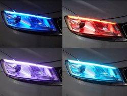 DRL 30 45 60cm Tagesstreifen-weißes Drehung-Signal-Gelb des positionslampe-flexibler weicher Gefäß-Führungs-Auto-LED wasserdicht