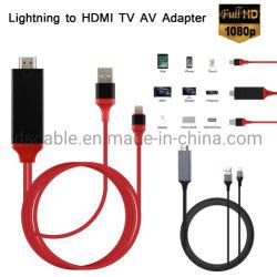 iPadのiPhoneのためのHDMIデジタルAV TVケーブルへの電光