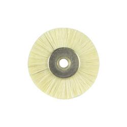 03G22 22mm Blanc Chèvre brosse à instruments dentaires de roue