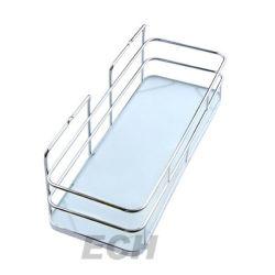 Cuarto de baño de acero inoxidable cristal decorativo estante (GHY-8977)