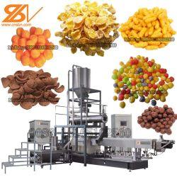 O milho doce borlas para cereais emperra Snacks Bola de queijo máquina de fazer café da manhã cereais flocos de milho máquina extrusora de duplo fuso