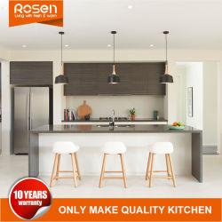 Специализированные современные плоские древесины дерева шпона кухонные шкафы мебель