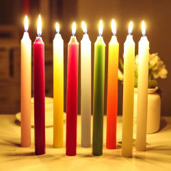 """Altura 8"""" color blanco brillante a Ghana Cnadle velas"""