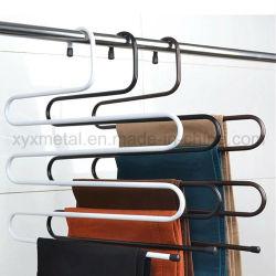 نمط S متعدد الطبقات يناسب بنطلون السراويل خزانة الملابس مشابك معدنية