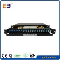 1u Fiber Patch Panel - 24-Poorts Aansluitdoos Met Duplex Lc Sm-Adapters