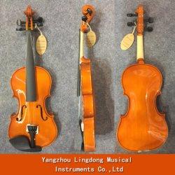 목제 바이올린은 바이올린 초심자를 위한 바이올린 활 로진 상자를 묶는다