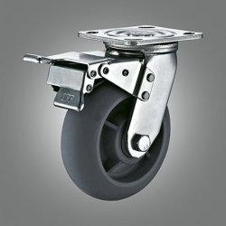 TPR поворотного колеса промышленные с тормоза самоустанавливающегося колеса