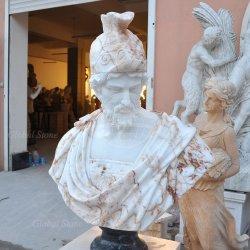 置物の彫像のための石造りの大理石の庭の彫刻ヘッドバスト