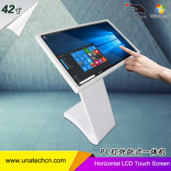 Panel de pantalla de vídeo LED Suelo Horizontal toque IR de infrarrojos LCD TFT Anuncio Player sistema de Windows con el PC.