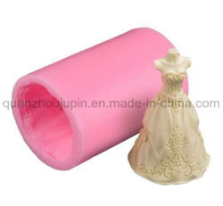 Robe de mariage personnalisées de moule de bougie de savon à base de silicone