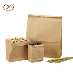 Kundenspezifischer Fastfood- Brown Packpapier-Beutel Großverkauf Soem-PAS