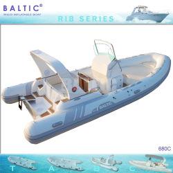Балтийские ребра 680 C из стекловолокна надувные лодки скорости для рыбной ловли