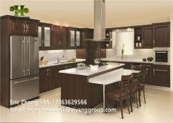 O mobiliário de estilo americano Placa Melamina porta do gabinete de PVC de madeira armário de cozinha