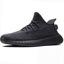 Yeezy 350 V2 черного цвета статических Yecheil мужчин спортивной обуви