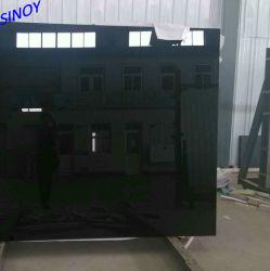 تصنيع الزجاج الأسود الدهان خزانة الباب المنزلق