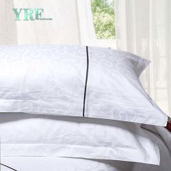 Fournitures de l'hôtel King Size Blanc 100% coton Patchwork Ensemble de literie