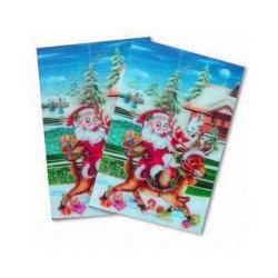 cartoline d'auguri lenticolari 3D per natale, cartoline lenticolari di saluto come regalo per lei/lui