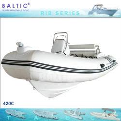 Costela 420 C Yacht Casco barco inflável de fibra de fornecedores MARCAÇÃO