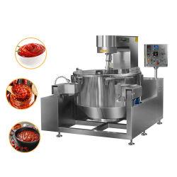 Máquina de mistura de cozinha automática com camisa Industrial Jarro Misturador com molho de pimenta eléctrico da máquina de mistura de cozinha molho de caramelo chaleira de cozimento de inclinação do Planetário