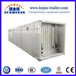De 40 pies de acero al carbono 60 cbm combustible Diesel contenedor cisterna para Semi-Trailer ISO