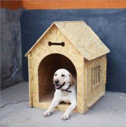 En el exterior de la casa para perro cama Gato Jaula de muebles de madera Muebles de Pet con Oriented Strand Board