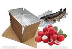 De Aluminiumfolie die van de Dozen van het Fruit van het Vervoer van het Voedsel van de catering Schuim Geïsoleerd Karton vouwt
