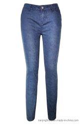Mode Impression Stretch Denim Jeans Pantalons de femmes (F070)