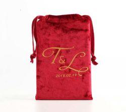 حقيبة إعلانية مخصصة لحقيبة هدية لحقيبة على شكل حقيبة بحقيبة ترويجية مخملية لحفلة زفاف يفضل مجوهرات مستحضرات التجميل حقيبة حقيبة