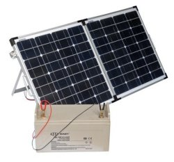 Painel solar com bateria 120W Solar Portátil Kit Painel Cabo Controlador presilha jacaré e bolsa para fins militares