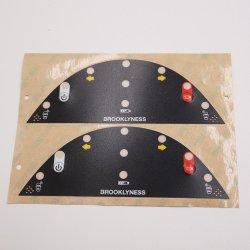 Gráfico de membrana de policarbonato placa del panel de superposición de Stickers