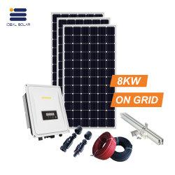 Ensemble complet photovoltaïque de 8000W sur la grille d'énergie solaire Système d'Électricité 220V 380V