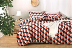Pop moderna casa estilo moda textil Impresión Digital estereoscópica de geometría set de ropa de cama de algodón