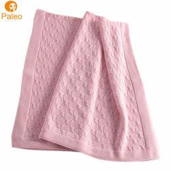 Diseño de bordado de OEM de fábrica el otoño de la Navidad de algodón tejido manta para bebé niño