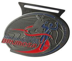 La decoración de diseño personalizado de la medalla de 3D para regalos Custom Color Azul logotipo grabado medalla para juego de deporte escolar
