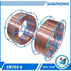 Aws A5.18 Les éclats de métal faible le tiroir de commande K300 Fils à souder MIG d'emballage solide ER70S-6 0,8mm, 0,9 mm, 1.0mm, 1,2 mm, 1,6 mm