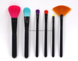 6PC красочные синтетических совершенно новый дизайн макияж щетки вращающегося пылесборника контура