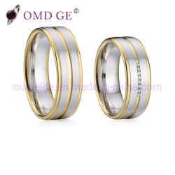 Ringen van de Juwelen van het Koper van de douane de Met de hand gemaakte Goud Geplateerde