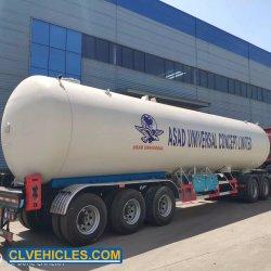 3車軸圧力容器のプロパン60m3 LPGのタンカーのトレーラー60000liters LPGタンク半トレーラー