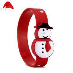 크리스마스 프로모션 선물 PVC USB 플래시 디스크 손목 밴드