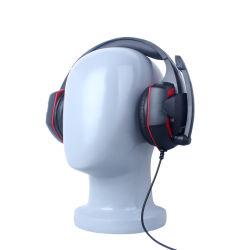 Auscultadores jogos estéreo sobre as orelhas super Bass jogos com fio Fone de ouvido com microfone de isolamento de ruído para jogos de PC G2000