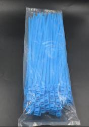 Нейлоновые 66 ПА пластмассовых самофиксирующийся синего кабеля
