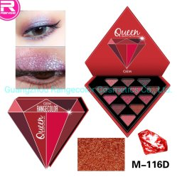 Diamond 13 cores Paleta Eyeshadow brilhando Eye Eyeshadow Diamante de sombra